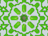 Abstract Green Pattern on Grey Background Photographic Print by Albert Klein