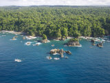 Aerial View of Costa Ricas Osa Peninsula Coastline Photographie par Roy Toft