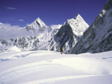 Mount Lingtren and Khumbutse, Nepal Photographic Print by Michael Brown