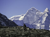 Trekking in Kang Taiga, Nepal Photographic Print by Michael Brown