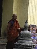 Old Man, Nepal Prints by Michael Brown