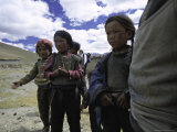 Tibetanchildren Photographic Print by Michael Brown