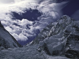 Lhotse Through the Khumbu Ice Fall Photographic Print by Michael Brown