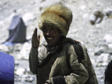 Sherpa at Everest Base Camp, Tibet Photographic Print by Michael Brown