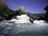 Sea Kayaking by Cliff, USA Photographic Print by Michael Brown