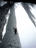 Ice Climbing, USA Photographic Print by Michael Brown