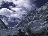 View of Lhotseand Billowing Clouds, Khumbu Ice Fall Prints by Michael Brown