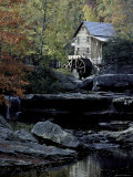 Old Mill in Fall, USA Photographic Print by Michael Brown