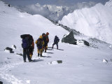 Climbing up Southside of Everest, Nepal Photographic Print by Michael Brown