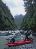 Kayakers on River, Chile Photographic Print by Michael Brown