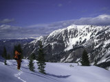 Snowshoing in Colorado Photographic Print by Michael Brown