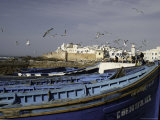 Blue Boats Photographic Print by Pietro Simonetti
