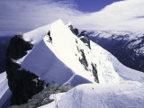 Close up of Climbers on Mt. Aspiring, New Zealand Photographic Print by Michael Brown