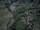 Village Landscape, Nepal Prints by Michael Brown