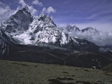 Ama Dablam Landscape, Nepal Poster by Michael Brown
