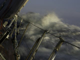 Sailboat in Rough Water, Ticonderoga Race Bilder av Michael Brown