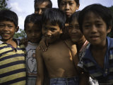 Smiling Children, Indonesia Photographic Print by Michael Brown