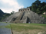 Mayan Temple in Palenque, Mexico Print by Michael Brown