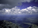 Sea of Clouds Over a Lake Landscape Seen from the Summit of a Mountain, Colorado Photographic Print by Michael Brown