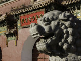 Lion Head Sculpture Seen from the Side, China Print by Ryan Ross