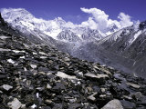 View Over the Ronbuk Glacier, Tibet Photographic Print by Michael Brown