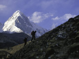Trekking in Nepal Photographic Print by Michael Brown