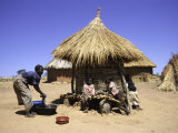 People by Hut, South Africa Photographic Print by Ryan Ross