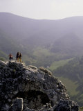 People on Steep Rock, USA Photographic Print by Michael Brown