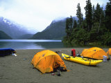 Camp Site by Lake, Chile Photographic Print by Michael Brown