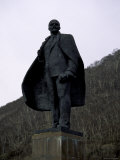 Lenin Statue in Russia Photographic Print by Michael Brown