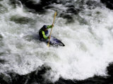 Whitewater Kayaking, USA Photographic Print by Michael Brown