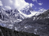 Pumori Seen from Ronbuk Glacier, Tibet Photographic Print by Michael Brown