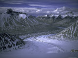 North Ronbuk Glacier, Nepal Print by Michael Brown