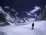The Cold Trek Through the Western Comb, Nepal Photographic Print by Michael Brown