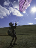 Paraglider on Ground, USA Photographic Print by Michael Brown