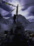 Puja Ceremonyat Everest Base Camp, Nepal Photographic Print by Michael Brown