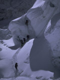 Climbing Khumbu Ice Fall, Nepal Photographic Print by Michael Brown