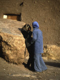 Two Girls Talking, Morocco Photographic Print by Michael Brown