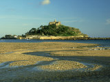 View South from Marazion Beach to St. Michaels Mount, Cornwall Photographic Print by Ian West
