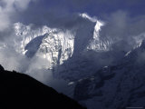 Mountains of Kusum Kanguru, Nepal Photographic Print by Michael Brown