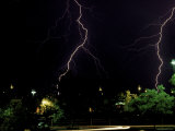 Lightning Storm Above Street, Boulder Photographic Print by Michael Brown