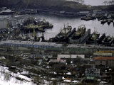 Old Ships in Petropavlavsk, Russia Photographic Print by Michael Brown