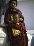 Two Young Boys, Nepal Photographic Print by Michael Brown