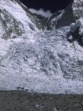 Khumbu Ice Fall from Southside of Everest, Nepal Photographic Print by Michael Brown