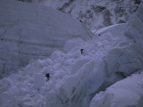Climbing Khumbu Ice Fall, Everest, Nepal Photographic Print by Michael Brown