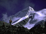 Ski Mountaineering Shishapangma, Tibet Photographic Print by Michael Brown