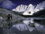 Trekking Shishapangma Area, Tibet Fotografisk trykk av Michael Brown