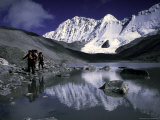 Trekking Shishapangma Area, Tibet Photographic Print by Michael Brown
