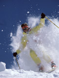 Skier in Yellow Photographic Print