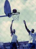 Urban Basketball Game Photographic Print
